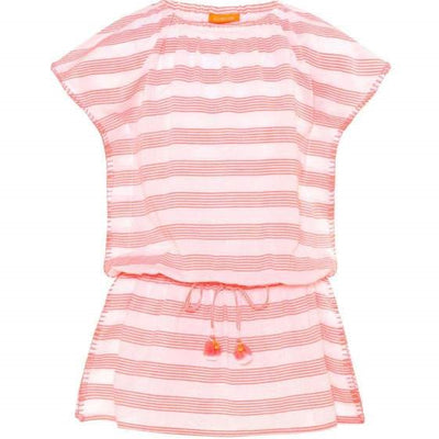 Girls Sherbert Pink Boho Dress - Junior Couture