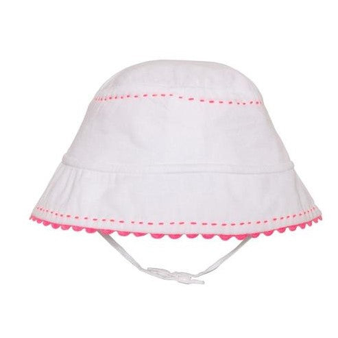 Baby Girls White Woven Sun Hat - Junior Couture