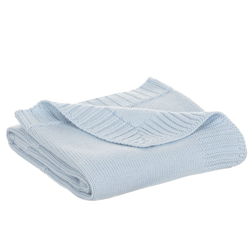 Baby Boys Blue Knitted Blanked
