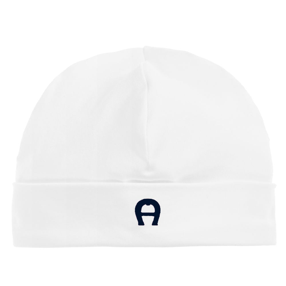 Baby Boy White & Navy Hat