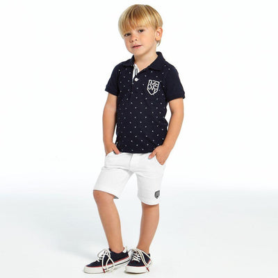Boys White Cotton Shorts - Junior Couture