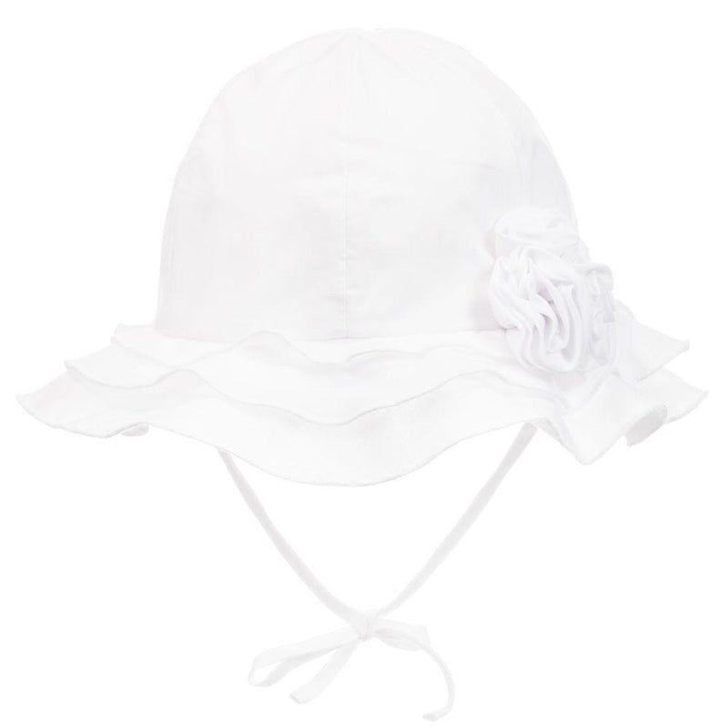 Baby White Cotton Hat