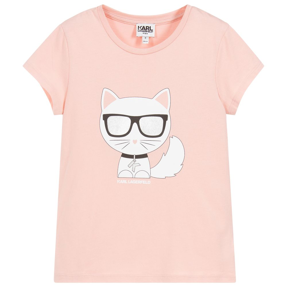 Girls Pink Choupette Top