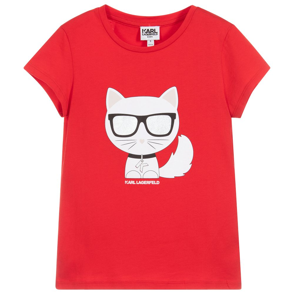 Girls Red Choupette Top