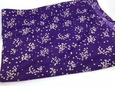 F231 Stretch purple floral