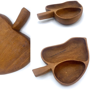 Two Part Leaf Teak Dish
