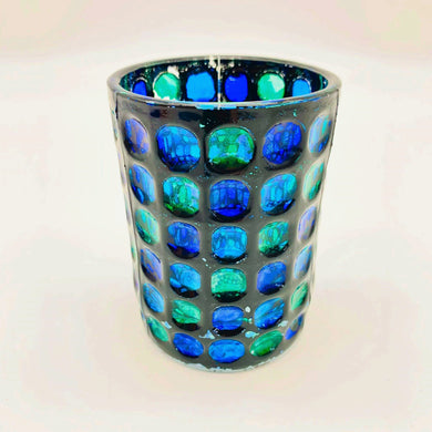 Blue Green Glass Vase
