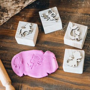 Mythical Playdough Stamps