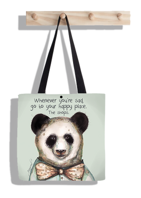 Panda happy shops (tote bag)