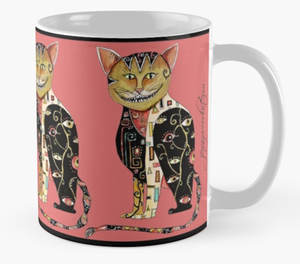 Cheshire cat arty (mug)
