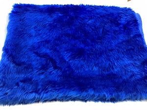 F230 Fake Fur Bright blue