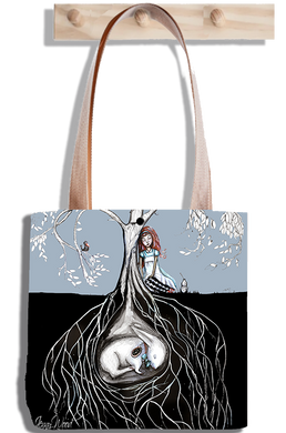 Alice rabbit under (tote bag)