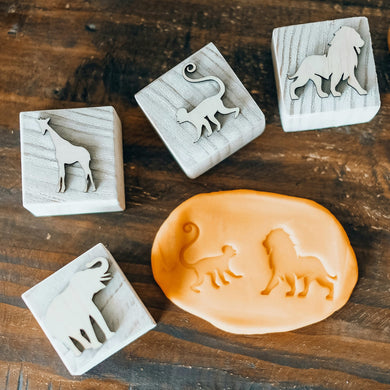 Safari Playdough Stamps