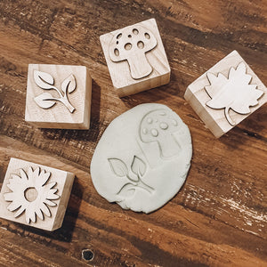 Botanical Playdough Stamps