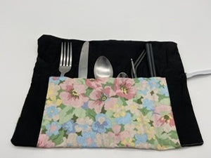 Reusable cutlery wrap -Pink