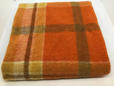F226 Wool pce Orange check