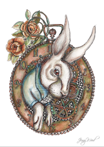Steampunk rabbit (A3 print)