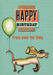Hap birth fur baby (sml card)