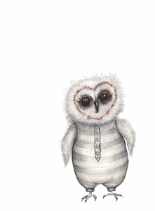 Baby owl (A3 print)