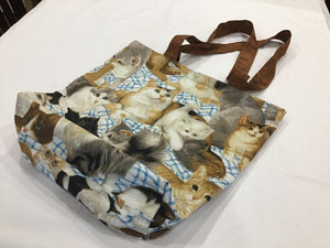 HM Tote bag Brown cats