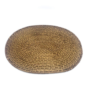 Brown Cane oval Placemat