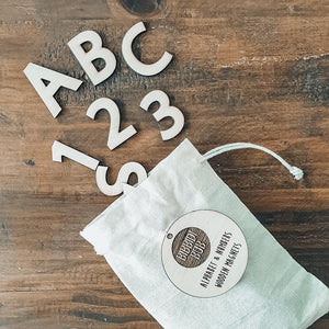 Alphabet/Numbers Wooden Magnet