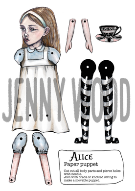 Alice paper puppet