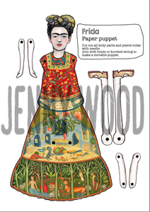 Frida puppet card