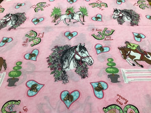 F1874 I Love Horses Cotton