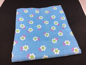 F239 Blue Retro Daisy fabric
