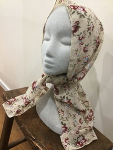 J-L Head or Neck Scarf Floral