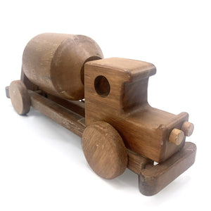 Wooden Cement Truck Toy