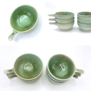 Green Retro Ramekin Set of 6