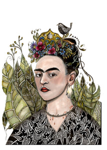 Frida crown (A4 print)