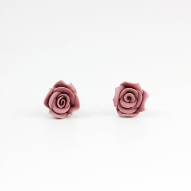 Dusty Pink Rose Studs