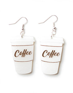 Coffee Cup Earrings Hook