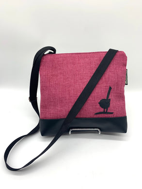 Shoulder bag red/black bird