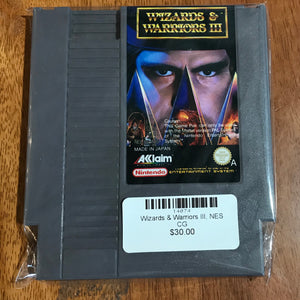 Wizards & Warriors III, NES