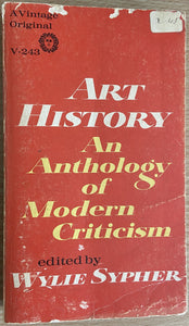 Wylie Sypher, Art History: An Anthology of Modern Criticism