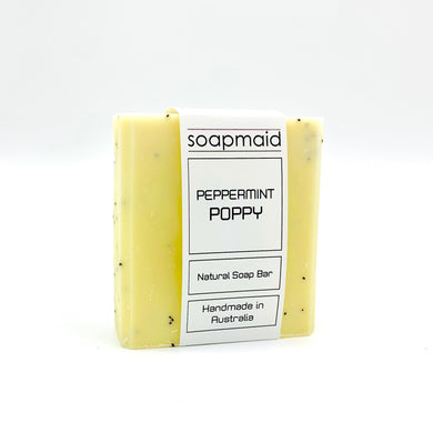 Peppermint Poppy Natural Soap Bar