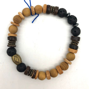 Lava and Wood Bracelet