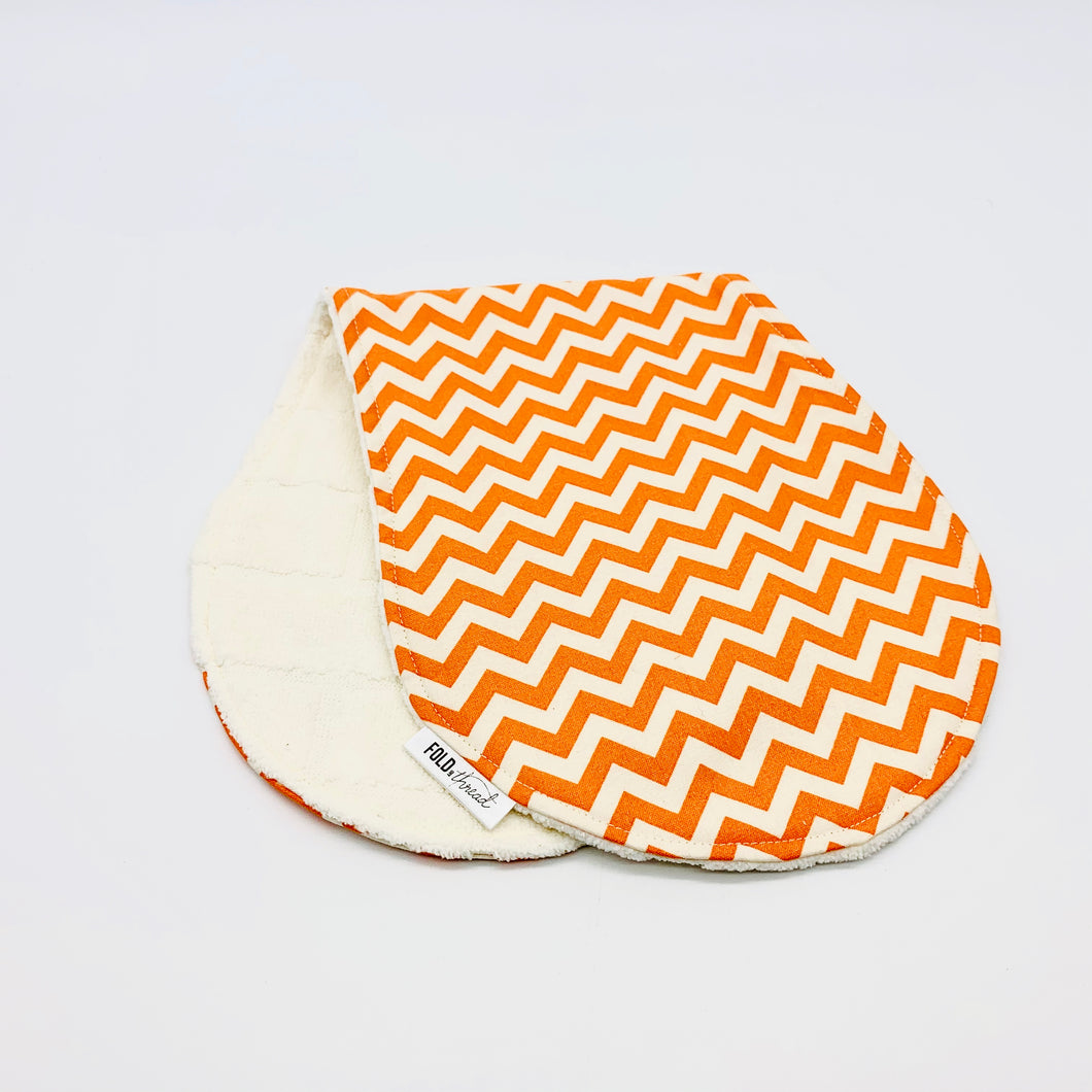 Orange Zig Zag Over Shoulder Bib