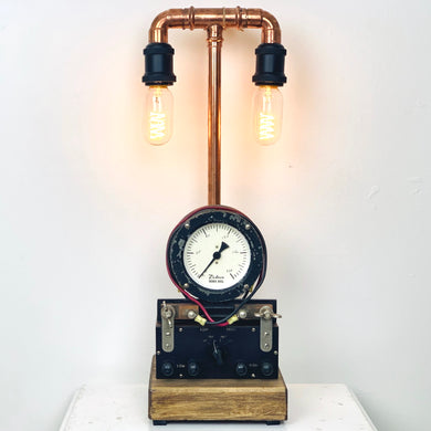 Vintage Twin Steampunk Lamp