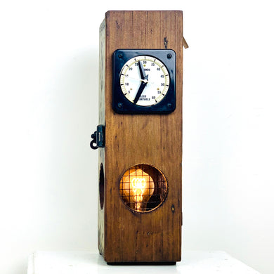 1941 English Ammo Box Lamp + Clock