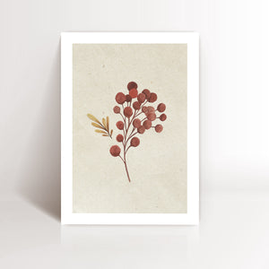 A4 Print Botanic Red Branch