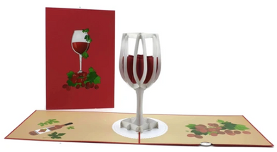 Wine Glass Pop Up Card