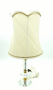 Vintage Lamp with Pleated Shad