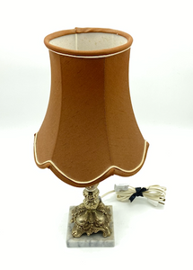Vintage Lamp Tan Shade