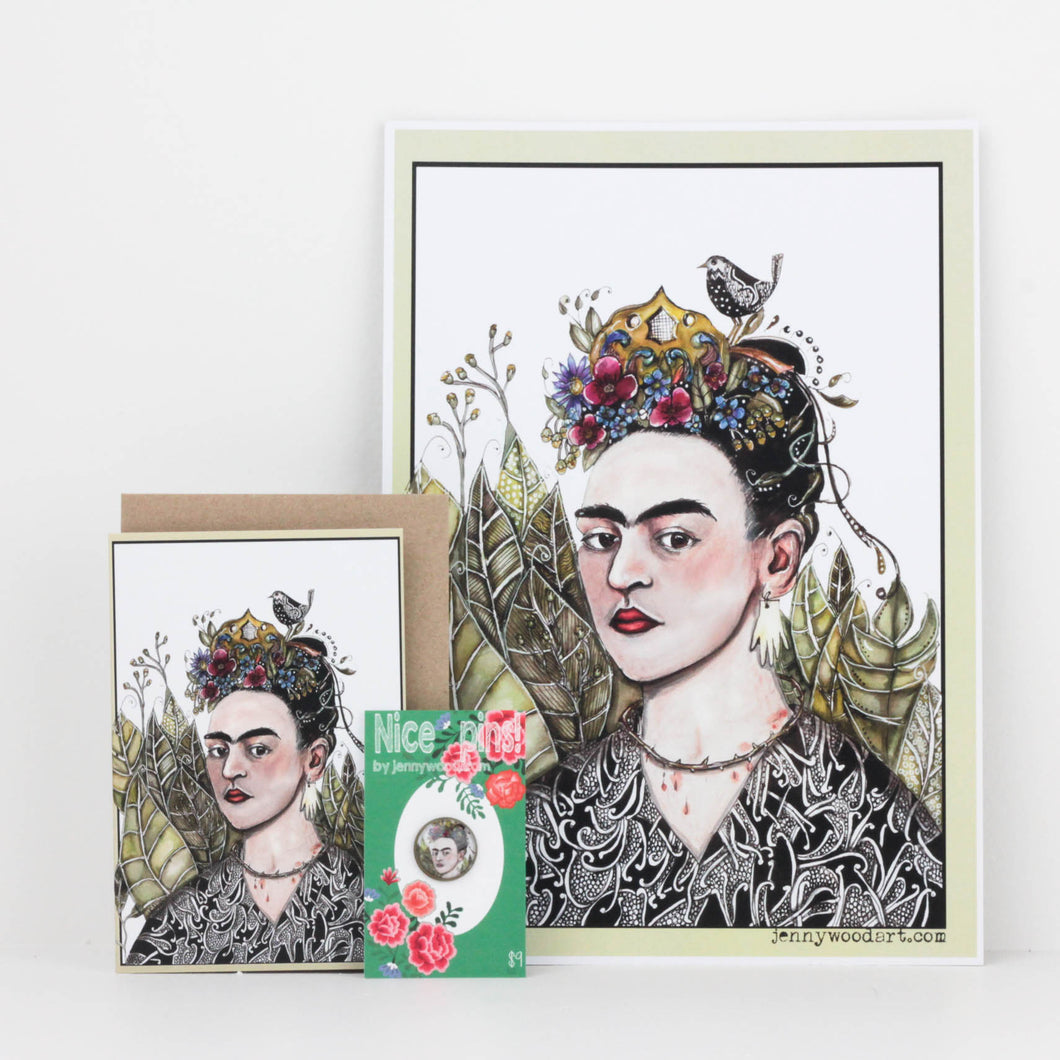 Fridah Kahlo (Card & Pin & Print)