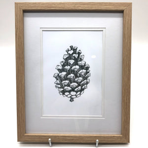 Framed Pinecone